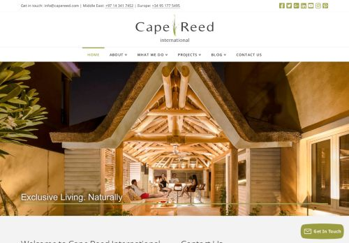 لقطة شاشة لموقع Cape Reed International بتاريخ 05/05/2021 بواسطة دليل مواقع الاقرب