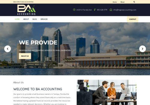 لقطة شاشة لموقع BA Accounting بتاريخ 08/05/2021 بواسطة دليل مواقع الاقرب