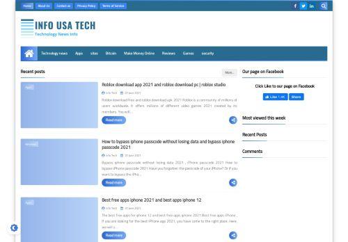 لقطة شاشة لموقع Info Usa Tech بتاريخ 02/06/2021 بواسطة دليل مواقع الاقرب