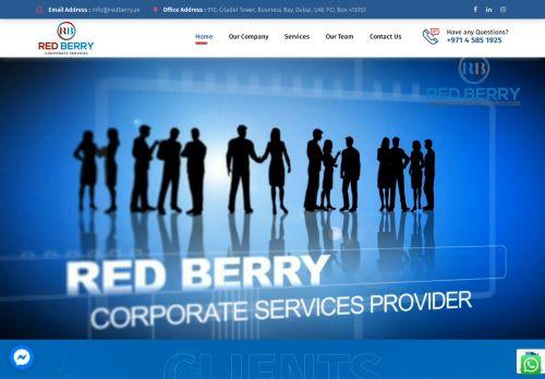 لقطة شاشة لموقع Red Berry Corporate Services بتاريخ 28/07/2021 بواسطة دليل مواقع الاقرب