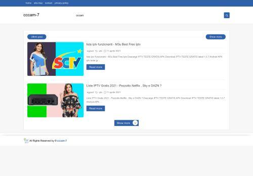 لقطة شاشة لموقع cccam-7 بتاريخ 29/07/2021 بواسطة دليل مواقع الاقرب