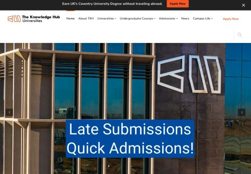 لقطة شاشة لموقع The Knowledge Hub Universities بتاريخ 09/09/2021 بواسطة دليل مواقع الاقرب