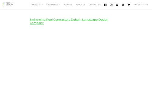 لقطة شاشة لموقع Swimming Pool Contractors Dubai بتاريخ 14/09/2021 بواسطة دليل مواقع الاقرب