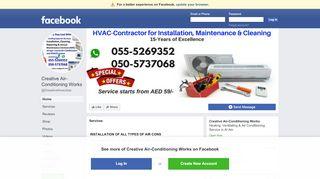 لقطة شاشة لموقع Air Conditioning Maintenance & Ducting Works بتاريخ 21/09/2019 بواسطة دليل مواقع الاقرب