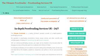 لقطة شاشة لموقع The Ultimate Proofreader بتاريخ 16/05/2020 بواسطة دليل مواقع الاقرب