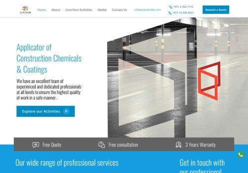 لقطة شاشة لموقع CONCHEM للخدمات التقنية بتاريخ 22/10/2020 بواسطة دليل مواقع الاقرب