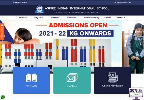لقطة شاشة لموقع Top most Indian School in Kuwait -Aspire International school بتاريخ 29/11/2020 بواسطة دليل مواقع الاقرب