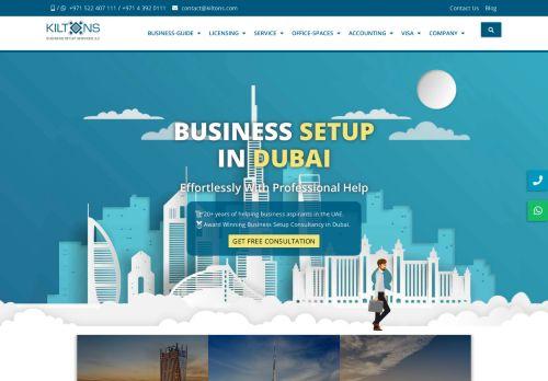 لقطة شاشة لموقع Kiltons Business Setup Services - BUSINESS SETUP IN DUBAI بتاريخ 12/01/2021 بواسطة دليل مواقع الاقرب