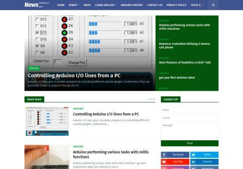 لقطة شاشة لموقع arduino project بتاريخ 19/01/2021 بواسطة دليل مواقع الاقرب